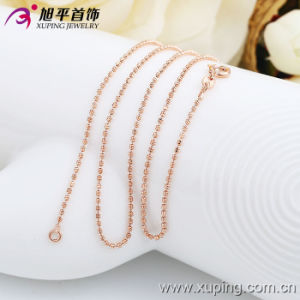 Xuping Fashion Women Rose Gold Color Beads Necklace (42413) pictures & photos