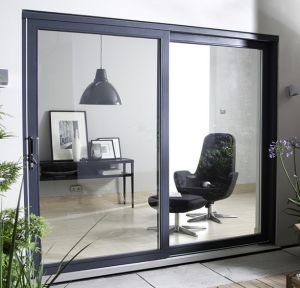Aluminum Glass Sliding Doors with Double Glass pictures & photos