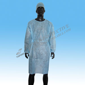 Wuhan Topmed Hospital Gown Paper Medical Gowns Surgical Gown pictures & photos