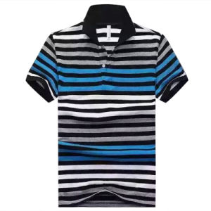 OEM Hot Stripe Pique Casual Polo Shirt for Man