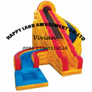 Symphony Double Lane Inflatable Water Slide with Arch pictures & photos