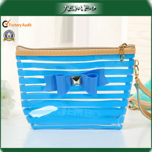 Blue Popular Cheap Single Handle PVC Bag with Bowknot pictures & photos
