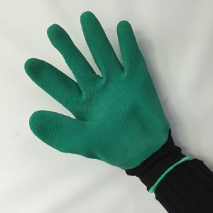 Hot Sale Handed Garden Genie Gloves with Plastic Fingertips pictures & photos