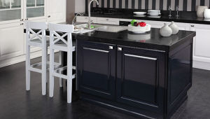 PVC Door Cheap Modern Kitchen Cabinet for High Quality (xs-001) pictures & photos