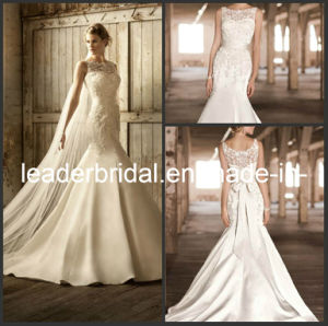 Mermaid Lace Sheer Neckline Bridal Wedding Gown Corset Bodice Bridal Dress ND001 pictures & photos