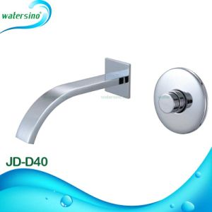 Wall Mounted Brass Cartridge Chrome Hande Push Self Closing Basin Tap pictures & photos