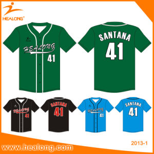 Cheap Custom Team Embroidery Logo Wholesale Baseball Jersey Shirts Uniforms pictures & photos