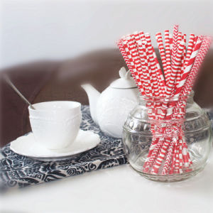 Hawaii Series Chevron Party Paper Drinking Straws pictures & photos
