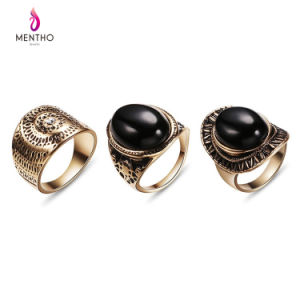 Good Cheap Retro Ethnic Creative Resin Gemstone Studded Alloy Ring Sets pictures & photos