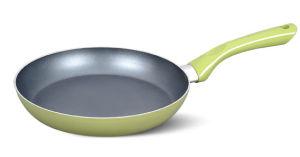 14cm Soft Green Aluminum Non-Stick Fry Pan