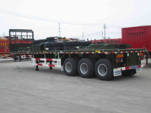 Tri-Axle 40FT Flat Bed Container Semi Trailer pictures & photos
