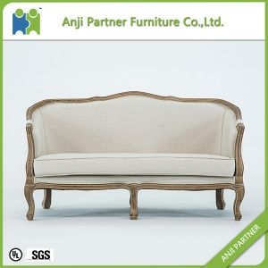 Wholesale Cheap Price Wooden Double Sofa (Kelly) pictures & photos