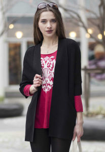 Ladies′ Cardigan Cashmere Sweater (1500002091) pictures & photos