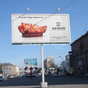 Large Unipole Trivision Billboard with Rotating Mechanism
