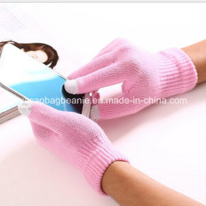 Promotional Nylon Acrylic Magic Touch Screen Smart Phone Gloves pictures & photos