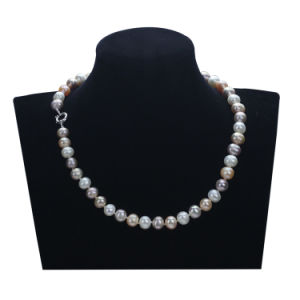 Snh Fashion Chain 8mm off Round Colored Pearl Necklace