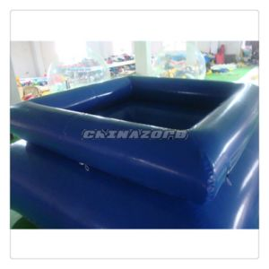 Double Layer 0.9m Height Dark Blue Inflatable Pool Swimming Pool pictures & photos