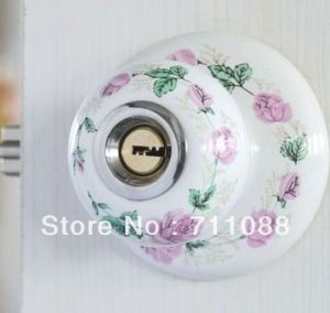 Lt Silver Rose Language Full Ceramic Pottery Door Lock Room Door Lock European Pastoral Simplicity pictures & photos