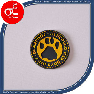 Customized Brand Logo Embossed Rubber Patch for Garment Label pictures & photos