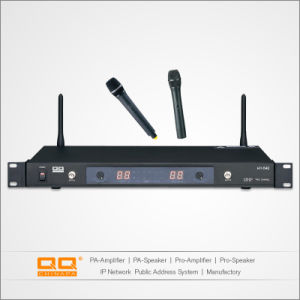 Hot Sell Plastic Collar UHF Wireless Hand Microphone for Export pictures & photos
