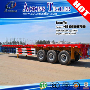 Terminal Shipping Port Container Semi Trailer (flatbed OR skeleton) pictures & photos