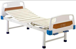 Patient Bed Movable Full-Fowler Hospital Bed with ABS Headboards pictures & photos