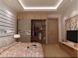 Modern Wood Panel Closet Wardrobe (zy-025) pictures & photos