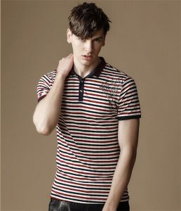 Men′s Hot Sale Stripe Cotton Polo T-Shirt pictures & photos