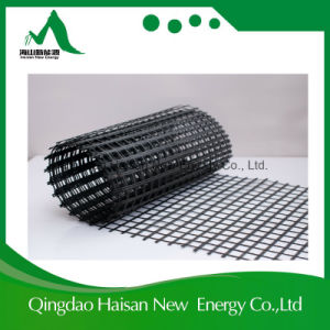 Asphalt Coated Reinforcement 50-50kn/M Fiberglass Geogrid with ISO9001 pictures & photos
