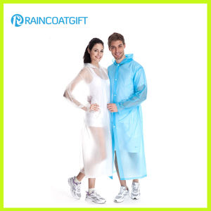 Unisex Transparent Long PVC Raincoat Rvc-017 pictures & photos