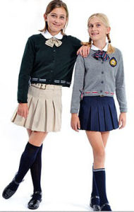 Primary School Girls School Uniform /Kids School Uniform Ll-36 pictures & photos