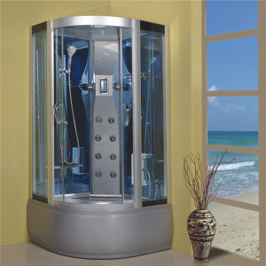High Quality Bathroom Round Sliding Massage Complete Shower Cabin pictures & photos