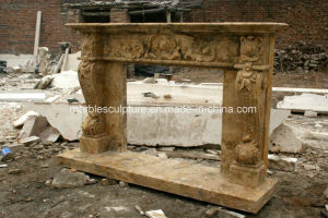 Beige Travertine Marble Fireplace for Indoor Decoration Sy-Mf313 pictures & photos