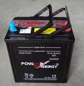 N35 12V35ah JIS Standard Lead Acid Dry Charged Car Battery pictures & photos