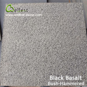 China Black Basalt Bluestone Bushhammered Tile for Floor/Wall Cladding pictures & photos