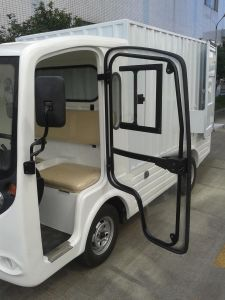 White Electric Tow Tractor Truck (LT-S2. B. HX) pictures & photos