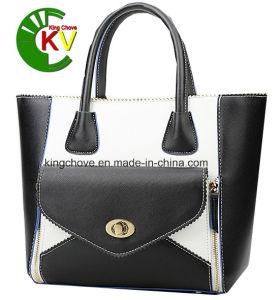 Latest Fashion Contrast PU Ladies Handbag (KCH159-1) pictures & photos