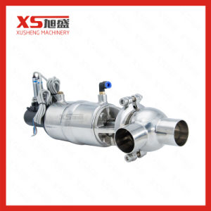 Stainless Steel SS304 Food Processing Pneumatic Flow Diversion Valve pictures & photos