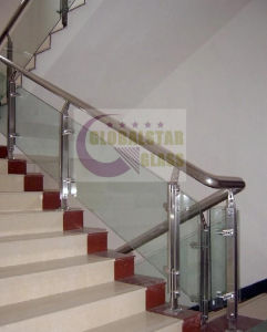 10mm Frameless Tempered Glass for Stair Balustrade with CCC, AS/NZS2008, CE pictures & photos