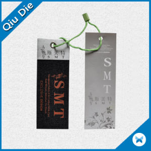 Wholesale Custom Recycled Foil Stamping Gift Tag with Hang String pictures & photos