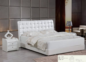 Hotel Bed, Leather Modern Bed, Bedroom Furniture (L1166) pictures & photos
