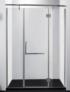 Hinge Tempered Glass Shower Screen Bathroom Furniture Simple Tempered Glass Door Sliding Door pictures & photos