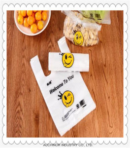 PE T-Shirt Vest Type Shopping Bag pictures & photos