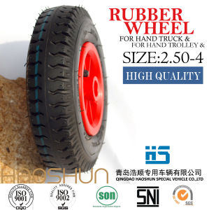 Pneumatic Wheelbarrow Barrow Rubber Wheel Tire 2.50-4 pictures & photos