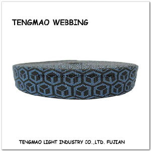 """1.5"""" Black Blue Polyester Jacquard Webbing pictures & photos"""