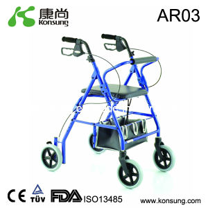 Aluminum Rollator with Basket (AR03)