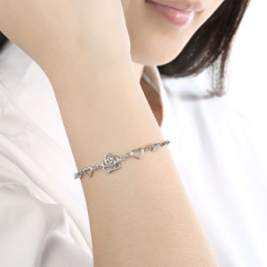 Fashion 925 Sterling Steel Heart Shape Bracelet Hot Sale Western Accessory Jewelry pictures & photos