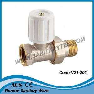 Brass Radiator Valve with Handle (V21-203) pictures & photos