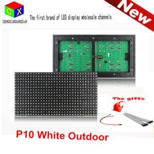 P10 White LED Outdoor Display Module 32X16 Matrix Waterproof High Brightness Shop Sign for Scrolling Text pictures & photos