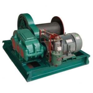 High Speed 8t Electric Winch with Single Cable Drum pictures & photos